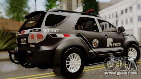 Toyota Hilux SW4 2014 ROTA para GTA San Andreas left