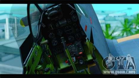 F-51D Israeli Air Force para GTA San Andreas vista hacia atrás