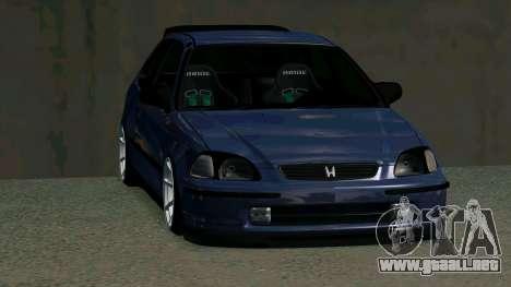 Honda Civic EK9 para visión interna GTA San Andreas