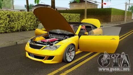 GTA 5 Ubermacht Zion XS Cabrio para GTA San Andreas vista hacia atrás