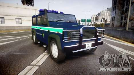 Land Rover Defender Policia GNR [ELS] para GTA 4