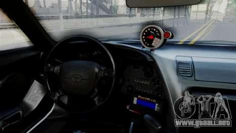 Toyota Supra 1998 FF7 para la visión correcta GTA San Andreas