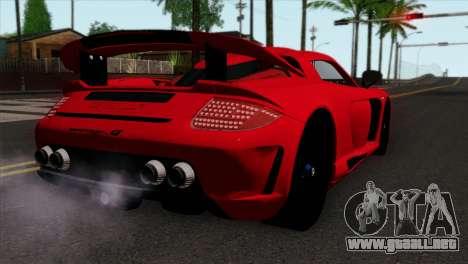 Gemballa Mirage GT v3 Windows Down para GTA San Andreas left