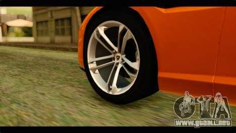 Lamborghini Estoque para GTA San Andreas vista posterior izquierda