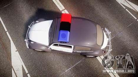 Volkswagen Fusca 1980 Military Police Sao Paulo para GTA 4 visión correcta