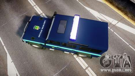 Land Rover Defender Policia GNR [ELS] para GTA 4 visión correcta