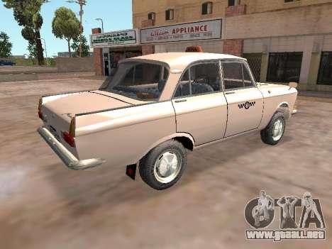 Moskvich 412 Cab para GTA San Andreas vista posterior izquierda