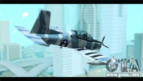 Beechcraft T-6 Texan II United States Air Force para GTA San Andreas left