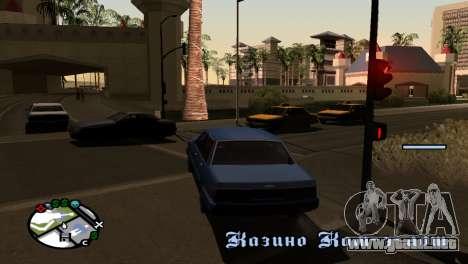 Nueva sombra sin perder FPS para GTA San Andreas tercera pantalla