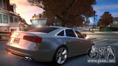 Audi S6 v1.0 2013 para GTA 4 visión correcta