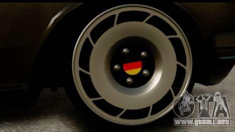 Mercedes-Benz 240 W123 Stance para GTA San Andreas vista hacia atrás