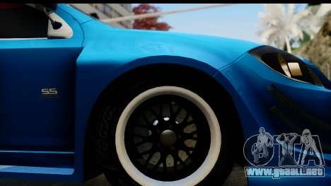 Chevrolet Cobalt SS Mio Itasha para GTA San Andreas vista hacia atrás
