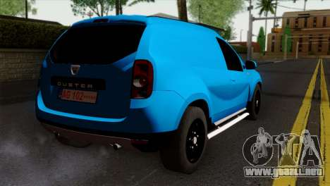 Dacia Duster Van para GTA San Andreas left