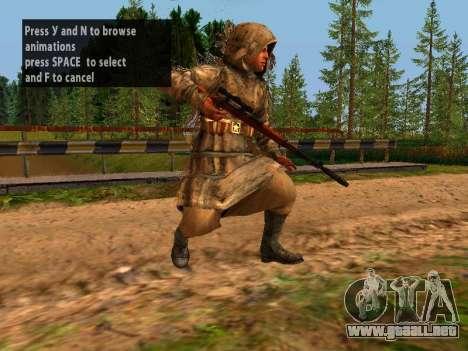Soviética De Francotirador para GTA San Andreas octavo de pantalla