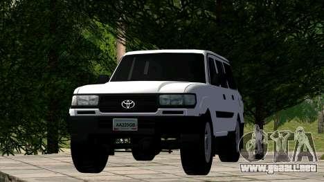 Toyota Land Cruiser 80 para la visión correcta GTA San Andreas