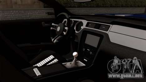 Ford Shelby 2014 para GTA San Andreas vista posterior izquierda