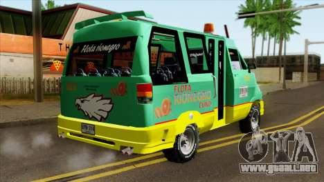 Toyota Microbus v2 para GTA San Andreas left
