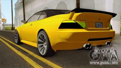 GTA 5 Ubermacht Zion XS Cabrio para GTA San Andreas left