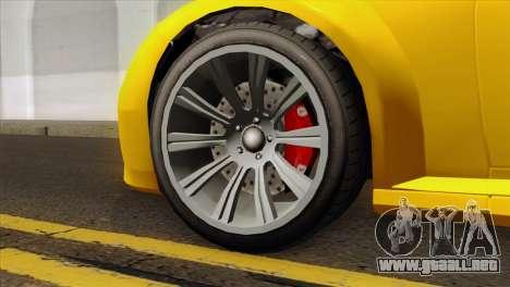 GTA 5 Ubermacht Zion XS Cabrio para GTA San Andreas vista posterior izquierda