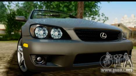 Lexus IS300 Tunable para GTA San Andreas vista posterior izquierda