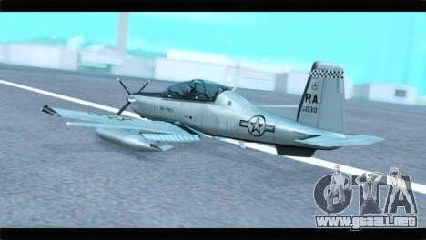 Beechcraft T-6 Texan II US Air Force 4 para GTA San Andreas left