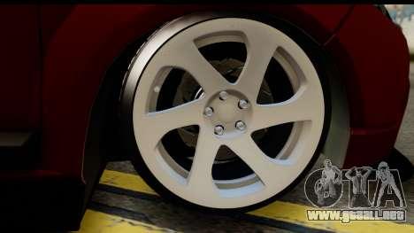 Dacia Sandero Low Tuning para GTA San Andreas vista posterior izquierda