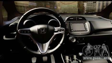 Honda Fit Sport 2009 para GTA San Andreas vista hacia atrás