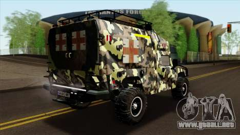 HMMWV M997 Ambulance para GTA San Andreas left