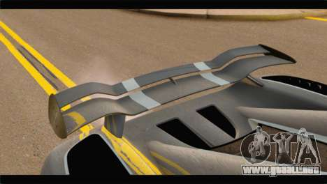 Koenigsegg Agera R 2011 Stock Version para GTA San Andreas vista hacia atrás