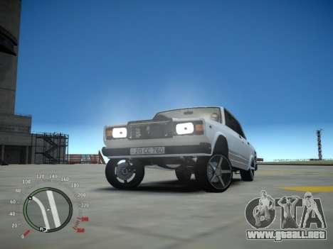 VAZ 2107 Aze para GTA 4 vista interior
