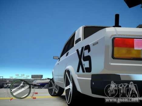 VAZ 2107 Aze para GTA 4 Vista posterior izquierda