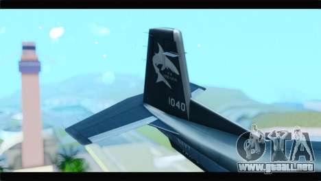 Beechcraft T-6 Texan II United States Navy 2 para GTA San Andreas vista posterior izquierda