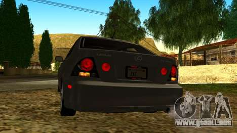 Lexus IS300 Tunable para vista lateral GTA San Andreas