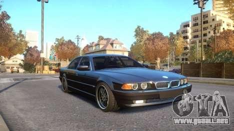BMW 750i e38 1994 Final para GTA 4 vista hacia atrás