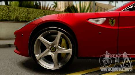 NFS Rivals Ferrari FF para GTA San Andreas vista hacia atrás