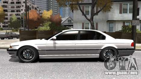 BMW 750i e38 1994 Final para GTA 4 vista superior