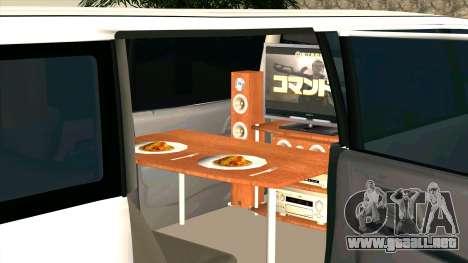Mitsubishi EK Wagon Limo para visión interna GTA San Andreas