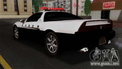 Honda NSX Police Car para GTA San Andreas left