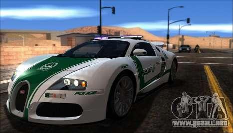 Bugatti Veyron 16.4 La Policía De Dubai 2009 para GTA San Andreas left