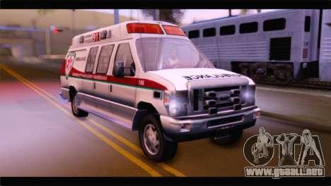 Ford E-350 Ambulance New Brunswick para GTA San Andreas