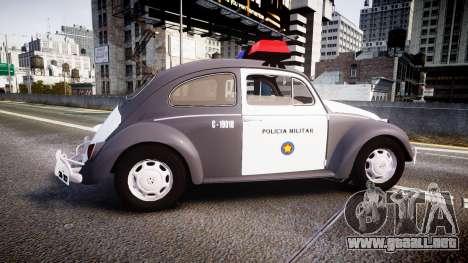 Volkswagen Fusca 1980 Military Police Sao Paulo para GTA 4 left