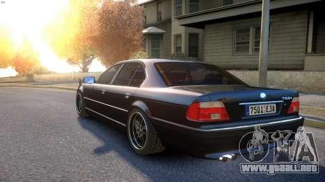 BMW 750i e38 1994 Final para GTA 4 Vista posterior izquierda