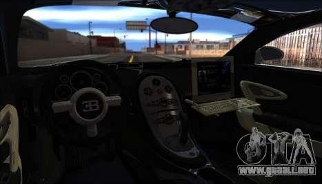 Bugatti Veyron 16.4 La Policía De Dubai 2009 para GTA San Andreas vista hacia atrás