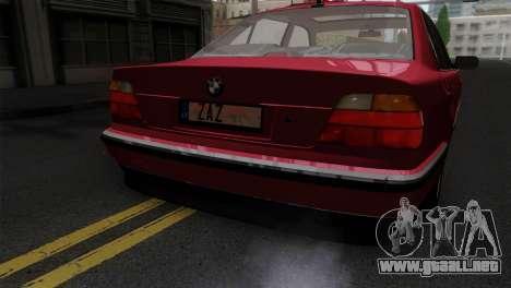 BMW 750iL E38 para GTA San Andreas vista hacia atrás