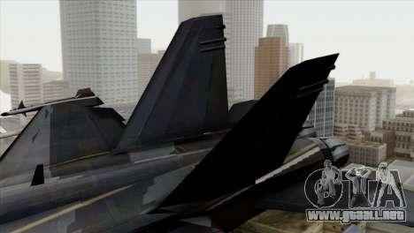 FA-18 HARV para GTA San Andreas vista posterior izquierda