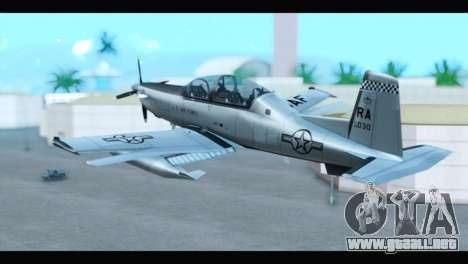 Beechcraft T-6 Texan II US Air Force 3 para GTA San Andreas left