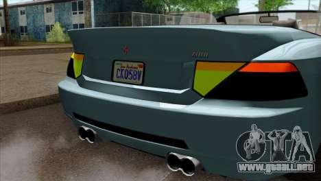 GTA 5 Ubermacht Zion XS Cabrio IVF para GTA San Andreas vista hacia atrás