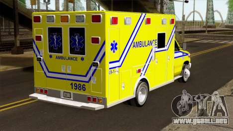 Ford F-450 2014 Quebec Ambulance para GTA San Andreas left