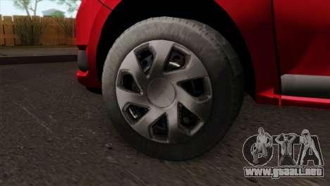 Dacia Logan MCV 2013 HQLM para GTA San Andreas vista posterior izquierda