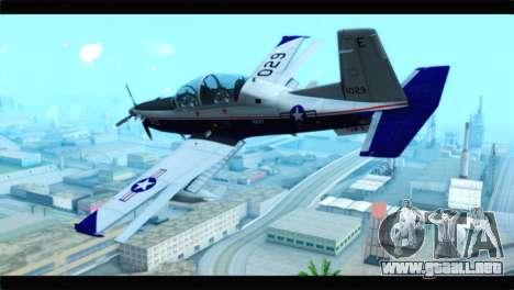 Beechcraft T-6 Texan II  United States Navy para GTA San Andreas left